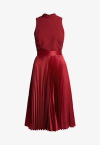 Closet - PLEATED SKIRT DRESS - Juhlamekko - burgundy - 5