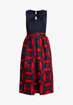 2 IN 1 FULL SKIRT DRESS - Denní šaty - red
