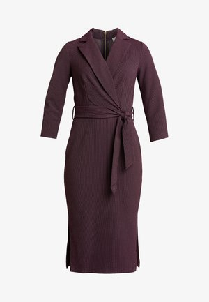 CLOSET 3/4 SLEEVE PENCIL DRESS - Denní šaty - maroon