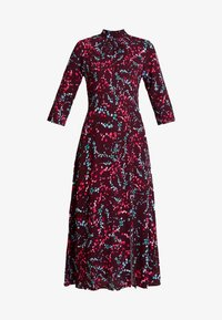 Closet - HIGH NECK FRONT SLIT DRESS - Robe d'été - maroon - 5