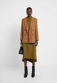 Closet - HIGH NECK A LINE DRESS - Maxi dress - lime - 1