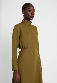 Closet - HIGH NECK A LINE DRESS - Maxi dress - lime - 5