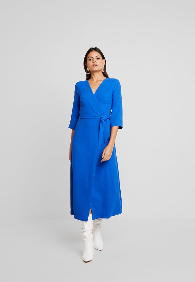 WRAP DRESS WITH 3/4 SLEEVE - Day dress - cobalt