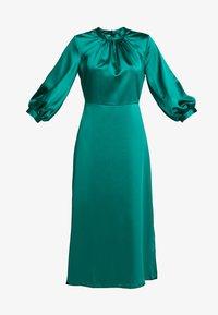 Closet - GATHERED NECK A-LINE MIDI DRESS - Korte jurk - green - 5