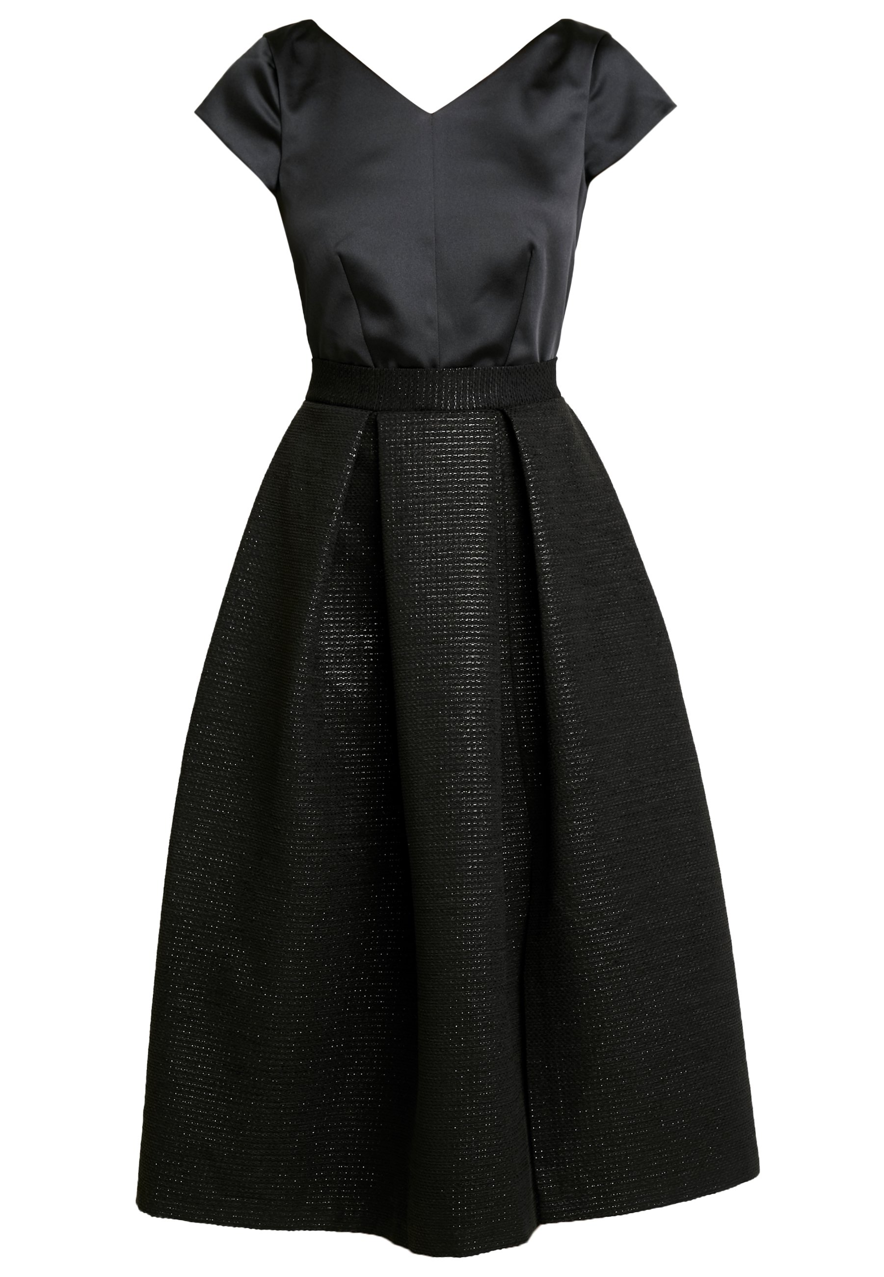 Closet CLOSET GOLD FULL SKIRT V NECK DRESS - Sukienka koktajlowa - black