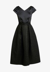 Closet - CLOSET GOLD FULL SKIRT V NECK DRESS - Cocktailkjole - black - 5