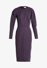 Closet - PUFF SLEEVE PENCIL DRESS - Pouzdrové šaty - purple - 5