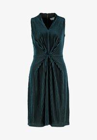 Closet - CENTRE PLEATS A LINE DRESS - Sukienka koktajlowa - teal - 5