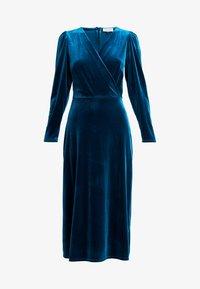 Closet - WRAP ALINE DRESS - Vestido de cóctel - teal - 4