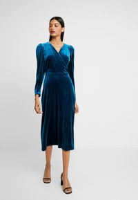 Closet - WRAP ALINE DRESS - Vestido de cóctel - teal - 1
