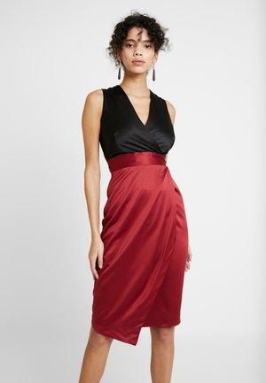 Cocktail dress / Party dress - black red