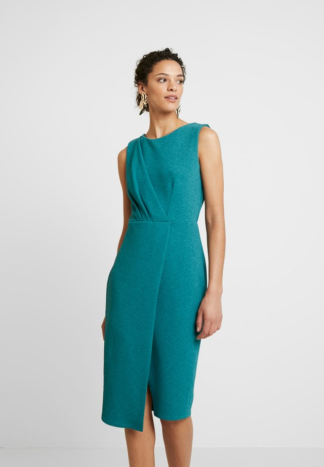 CLOSET DRAPED SLEEVELESS WRAP DRESS - Etui-jurk - teal