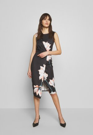 CLOSET BODY CON MIDI - Shift dress - black