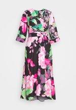 HIGH LOW WRAP DRESS - Denní šaty - green