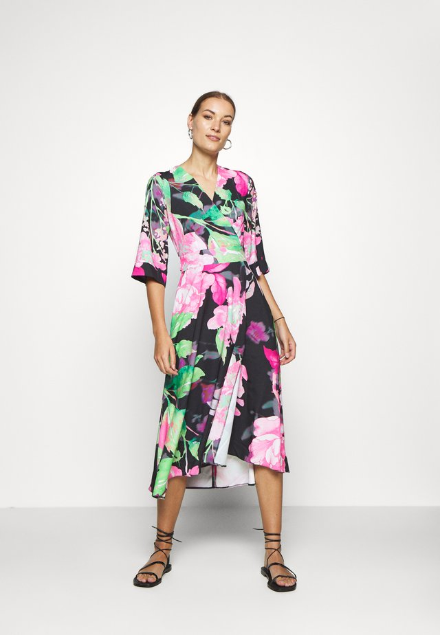 HIGH LOW WRAP DRESS - Korte jurk - green