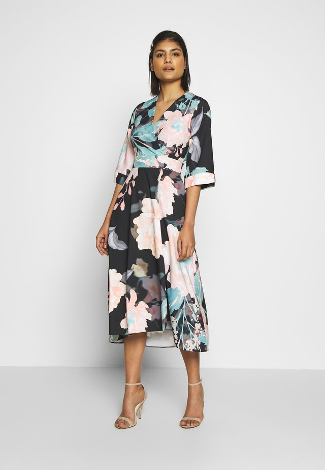 HIGH LOW WRAP DRESS - Vardagsklänning - duck egg