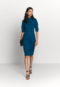 Closet - HIGH COLLAR PENCIL DRESS - Etuikjole - blue - 2