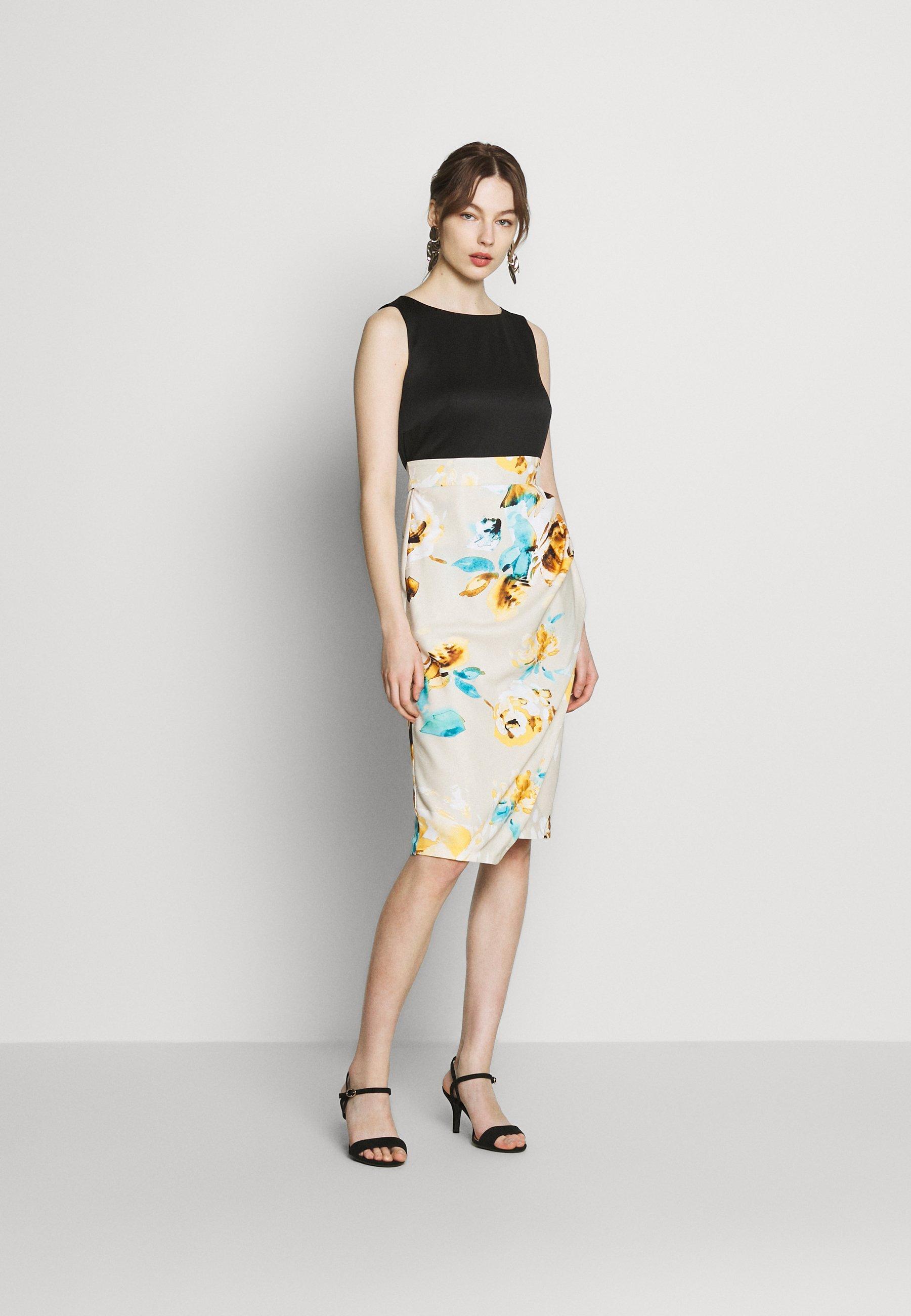 Closet Pleated Pencil Dress - Etuikjole Beige