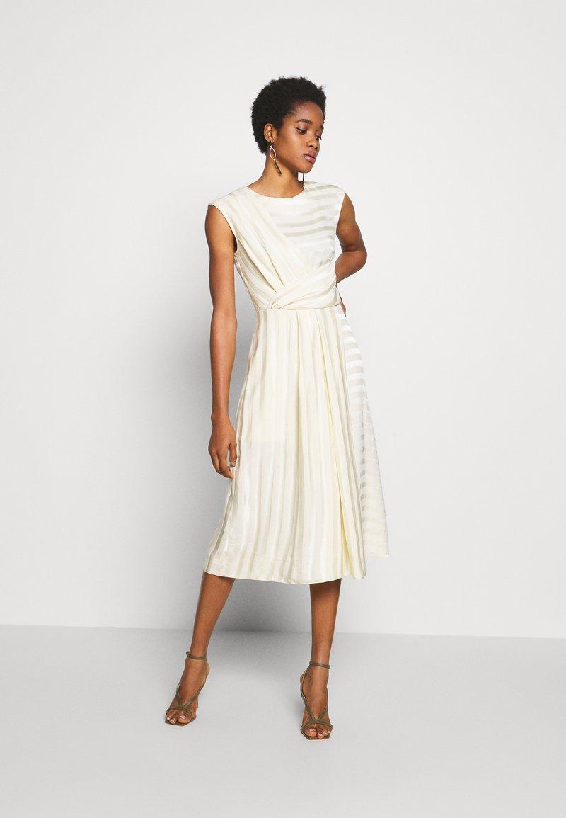 Closet - CLOSET PLEATED A-LINE DRESS - Day dress - beige