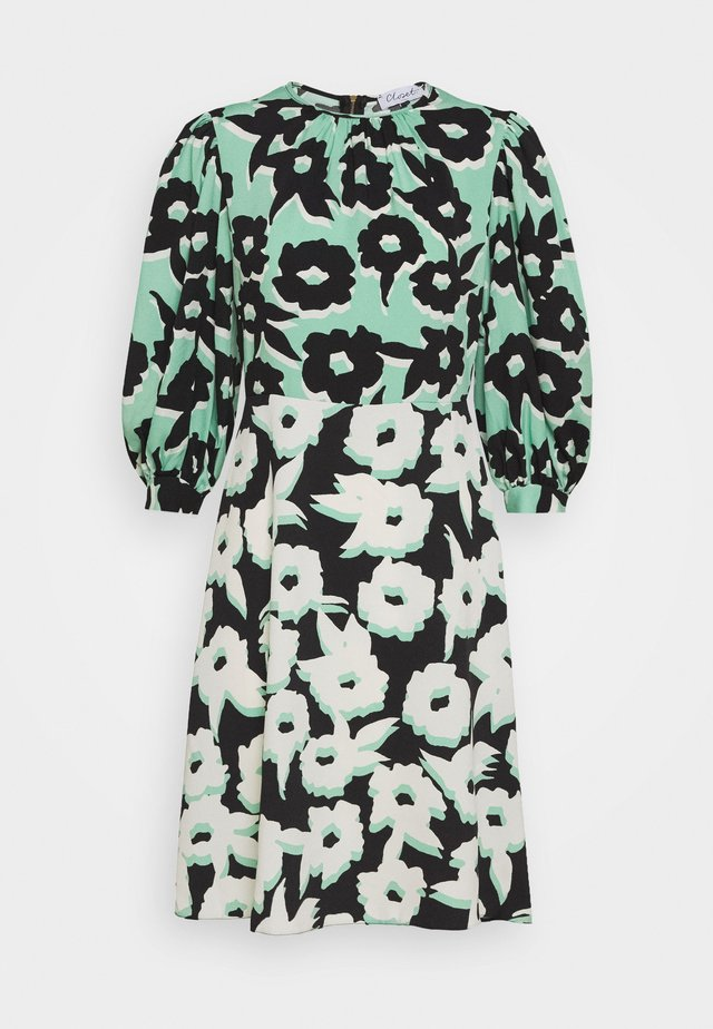 PUFF SLEEVE DRESS - Vardagsklänning - green