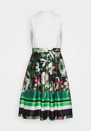 V NECK DRESS - Cocktail dress / Party dress - green