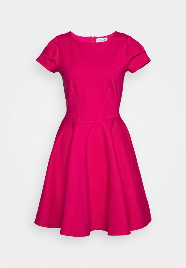 CLOSET SHORT SLEEVE SKATER DRESS - Vardagsklänning - pink