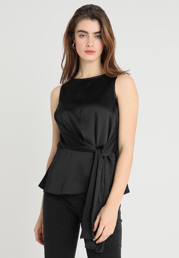 Closet - CLOSET ASYMMETRICAL TIE FRONT - Bluse - black