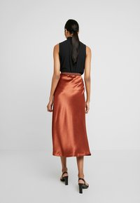 Closet - MIDI SKIRT - A-Linien-Rock - light brown - 2