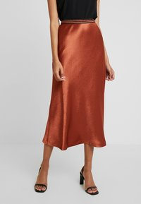 Closet - MIDI SKIRT - A-Linien-Rock - light brown - 0