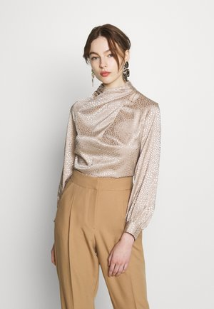 TWIST NECK BLOUSE - Blouse - beige