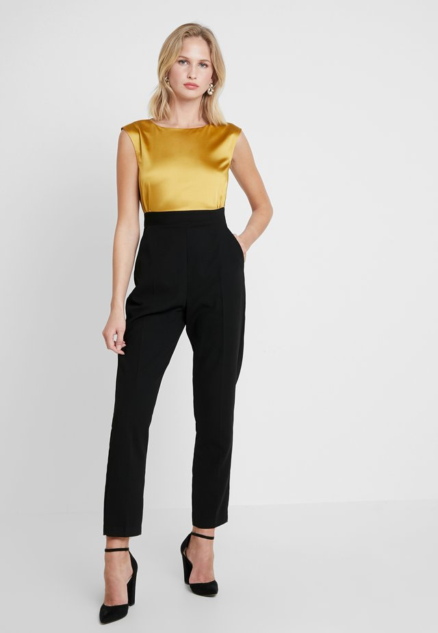CLOSET 2 IN 1 WITH TIE - Jumpsuit - mustard