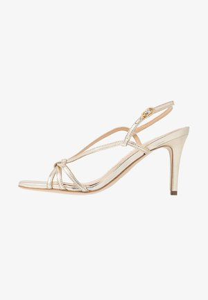 High heeled sandals - light gold