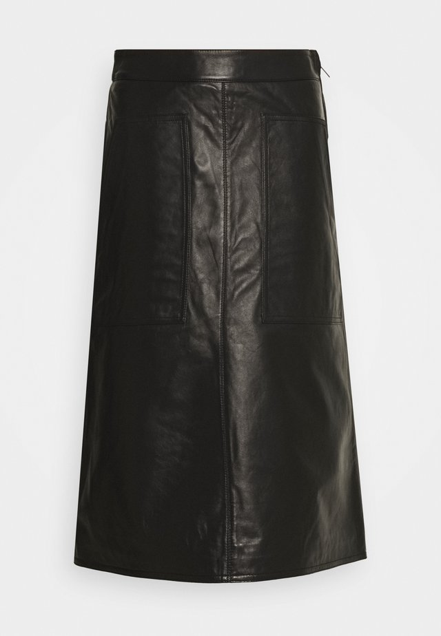CAFEE - Leather skirt - noir