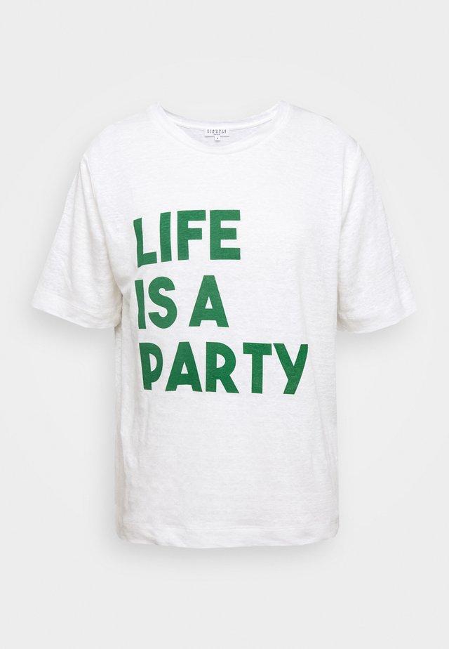 TEARSLIFEE - T-shirt med print - ecru