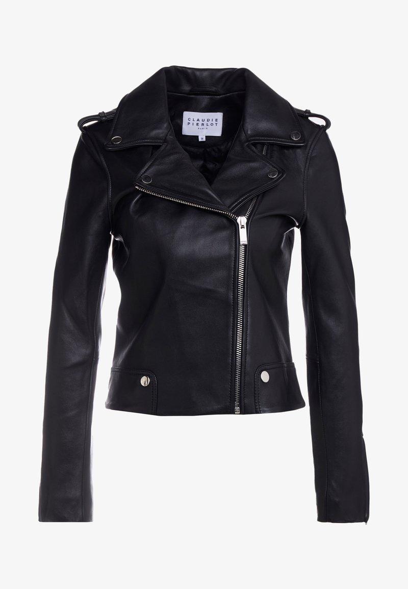 Claudie Pierlot - CONUT - Leather jacket - noir