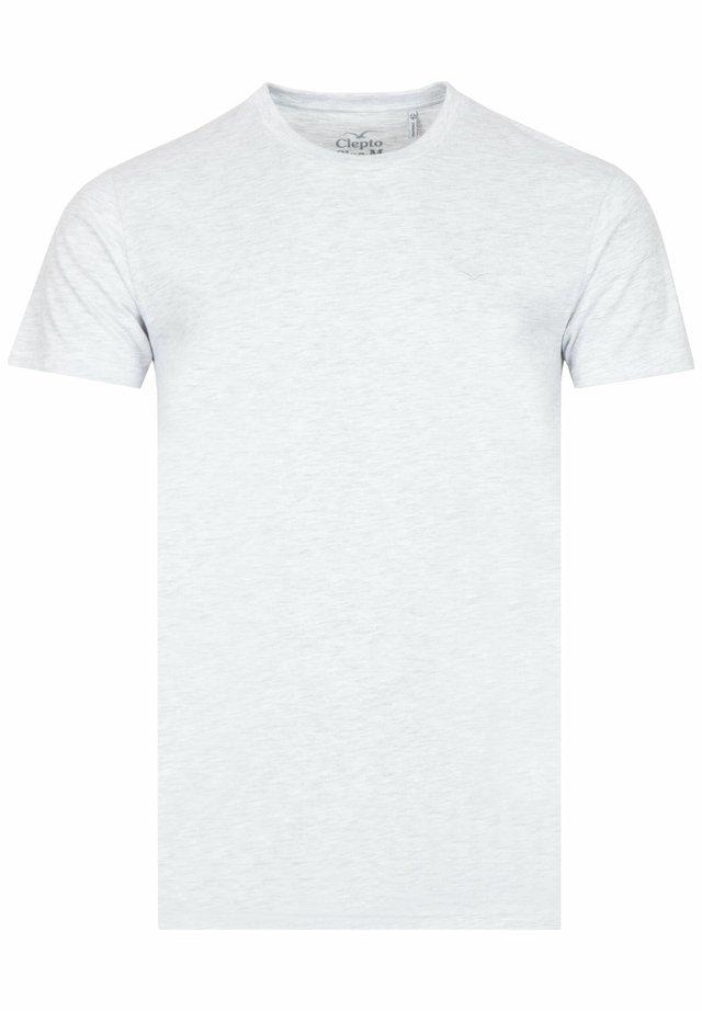 LIGULL - Basic T-shirt - light heather gray