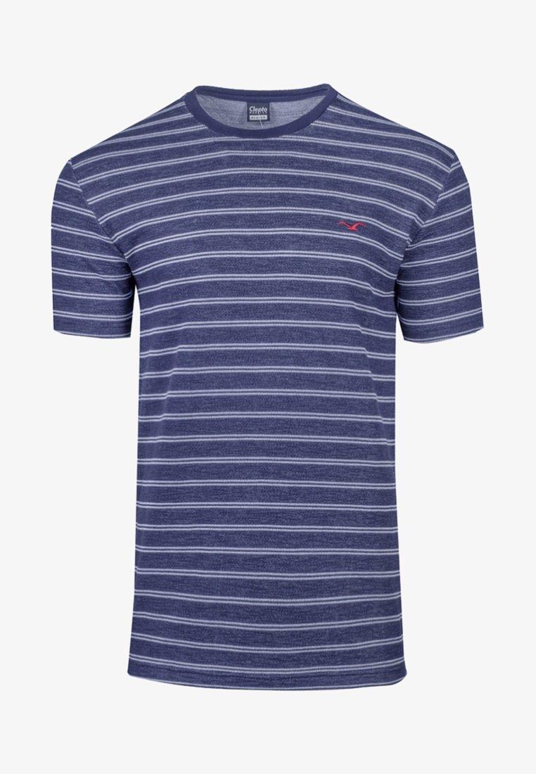 Cleptomanicx - Print T-shirt - dark navy