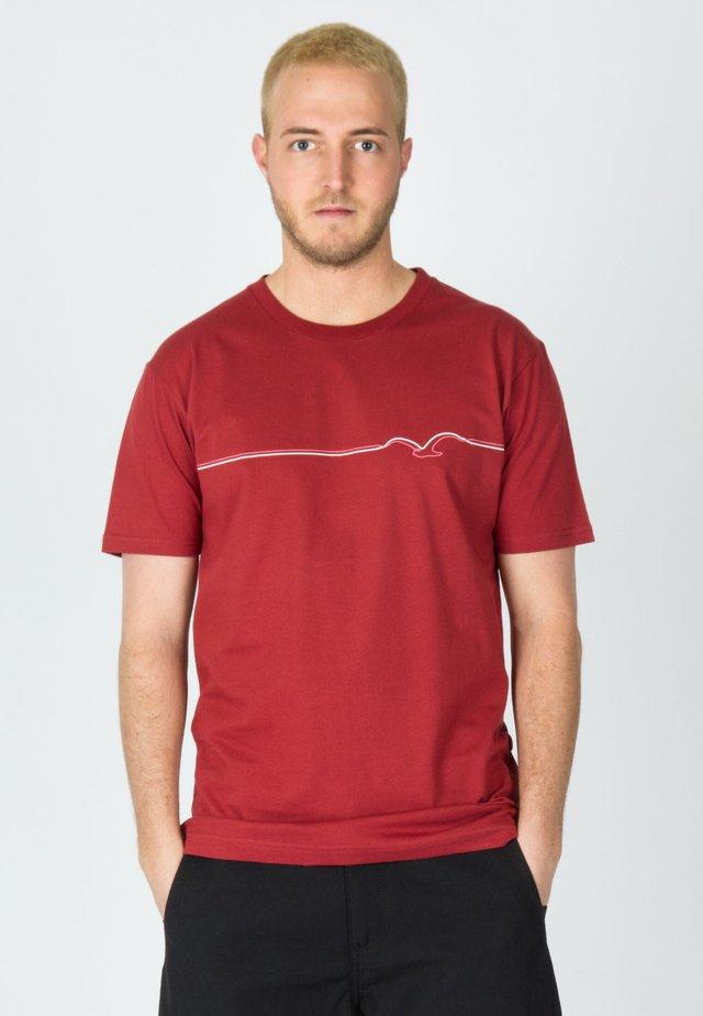MÖWE LINES - Print T-shirt - rosewood