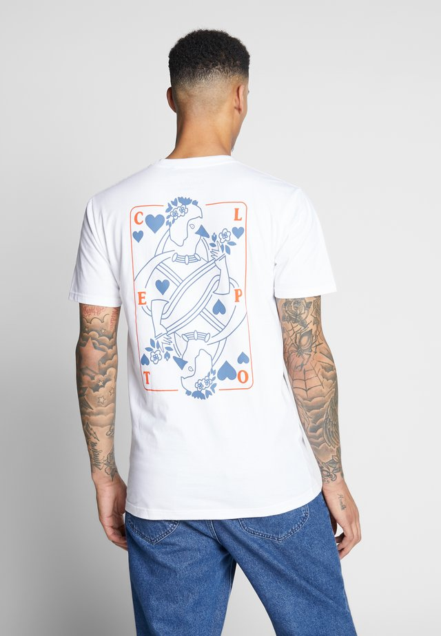 CARDS - T-shirt med print - white