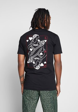 CARDS - Print T-shirt - black