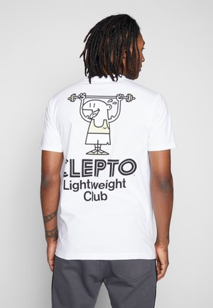 LIGHT CLUB - T-shirt z nadrukiem - white