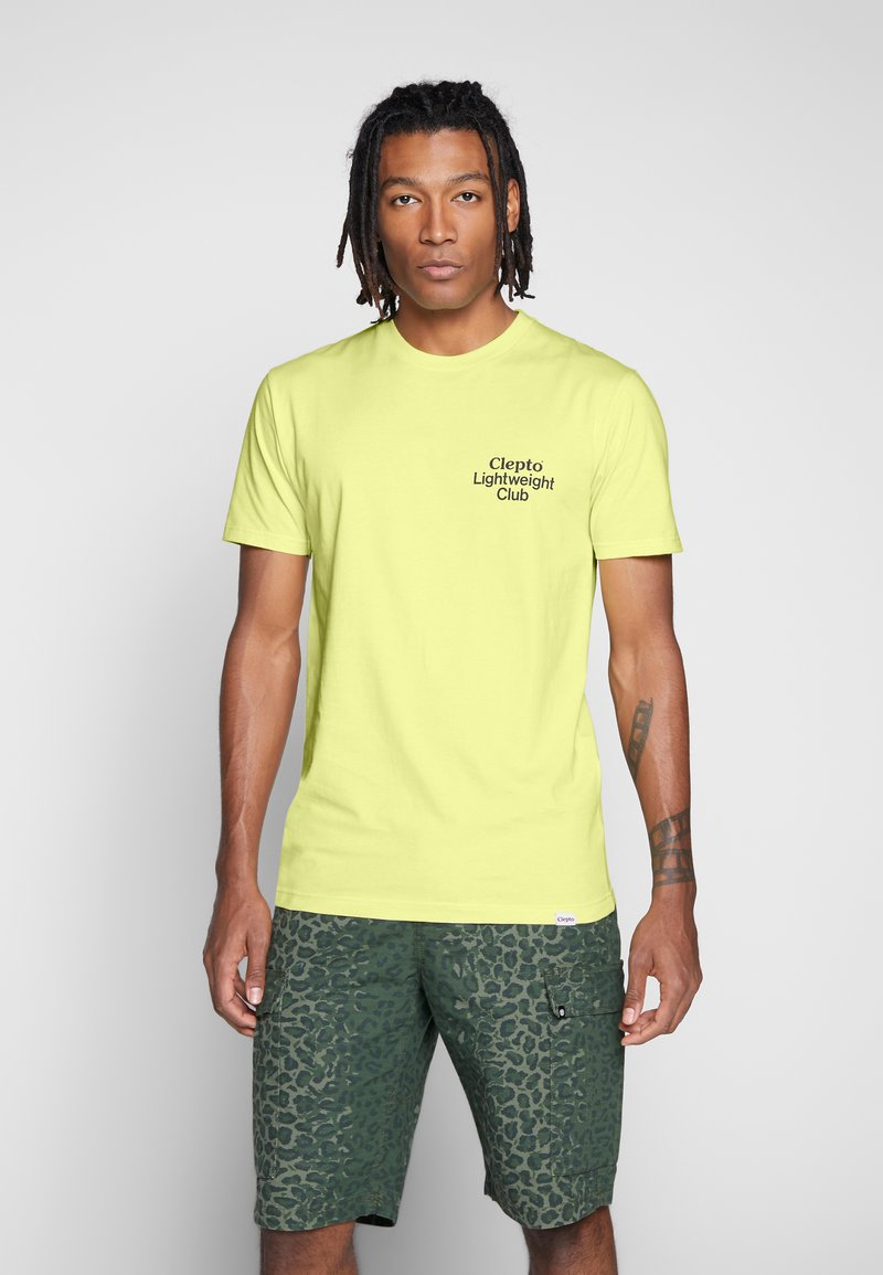 Cleptomanicx - LIGHT CLUB - Print T-shirt - elfin yellow