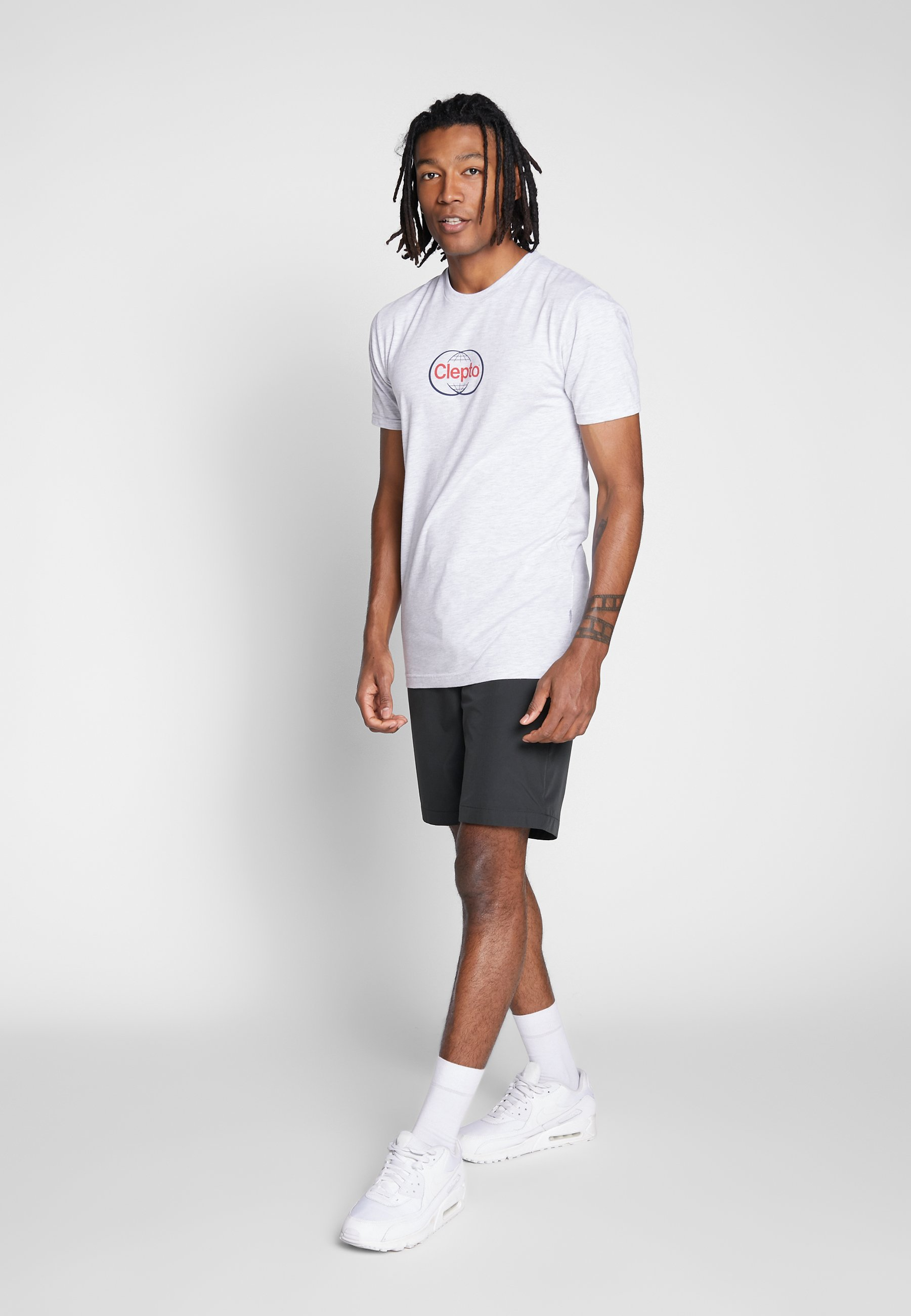 Cleptomanicx CLEWO - T-shirt imprimé - light heather gray