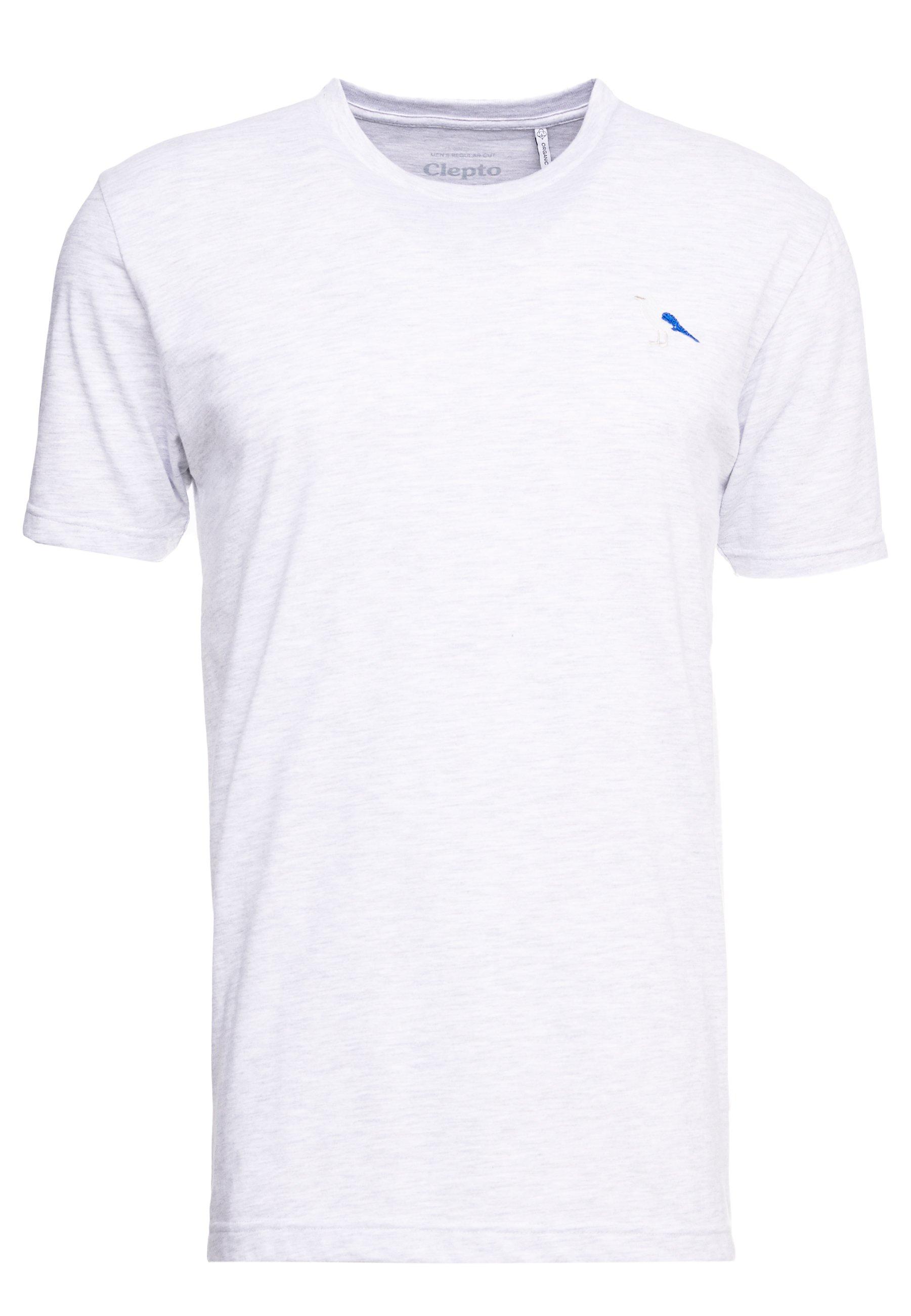 Cleptomanicx Embro Gull - T-shirt Basique Light Heather Gray