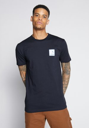 RUN GULL - T-shirt med print - phantom black
