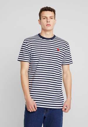 STRIPE - Print T-shirt - navy