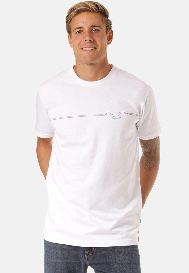 MÖWE LINES - Print T-shirt - white