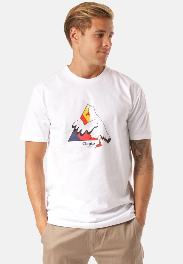 STEP INTO - T-shirt print - white