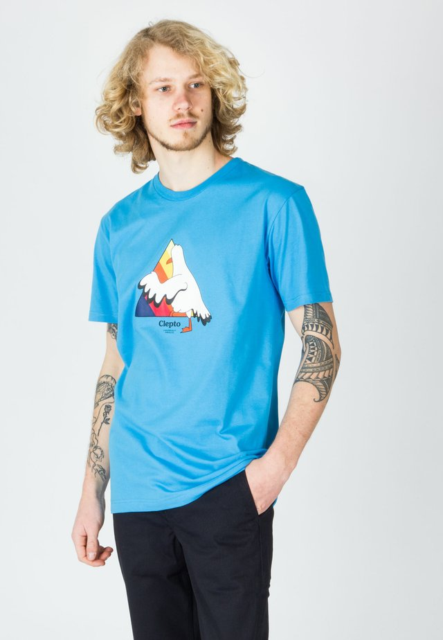 STEP INTO - T-shirt con stampa - ocean blue