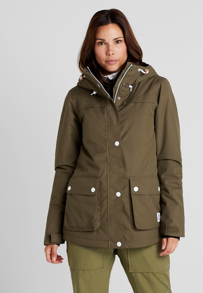 Wearcolour - IDA JACKET - Snowboardjacka - mud